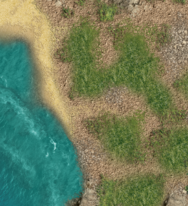 Wargaming Battle Mat 6x4 Caribbean Islands