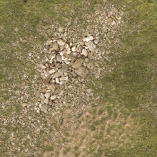 Load image into Gallery viewer, Wargaming Battle Mat 6x4 Rocky Grass