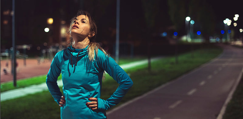 Female athlete suffering from runner's burnout