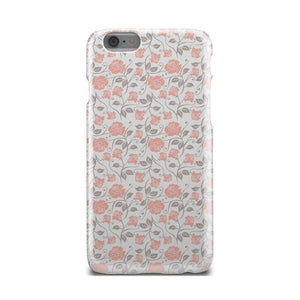 Unique Light Gray And Pink Gothic iPhone X Case