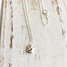 Load image into Gallery viewer, Sterling Silver Heart Charm Necklace