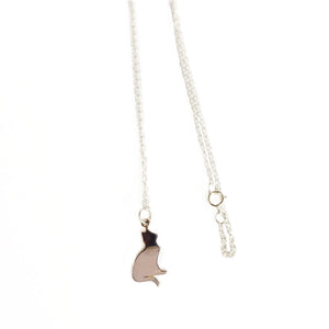Mystical Elephant Sterling Silver Necklace, Dainty