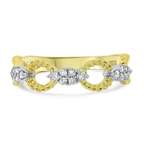 Yellow Gold Diamond Stacker Ring