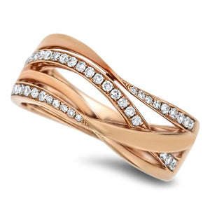 Wrapped Rose Gold Diamond Fashion Ring