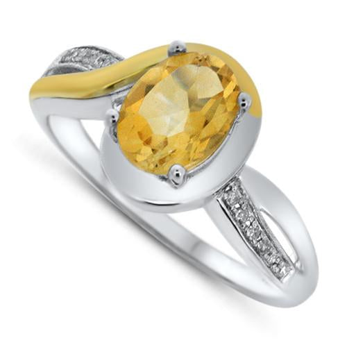 Two Tone Citrine Ring