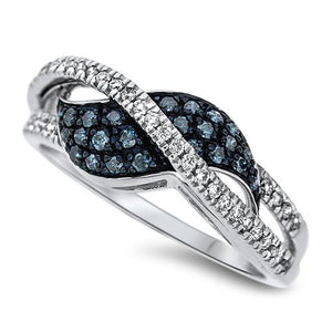 Blue Wave Diamond Fashion Ring