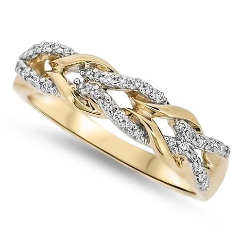 Yellow Gold Linked Diamond Ring