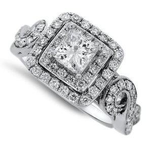 Square Center Diamond Ring
