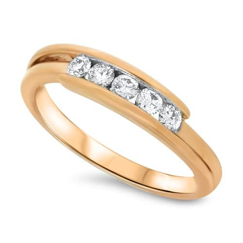 Simple Rose Gold Diamond Ring