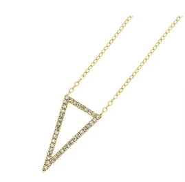 Geometric Diamond Pendant