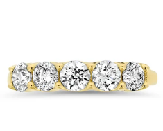 Yellow Gold Diamond Anniversary Ring