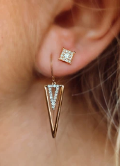 Adorable Diamond Dangle Earring