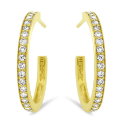 Yellow Gold Diamond Half Hoops