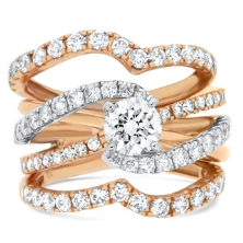 Rose Gold Diamond Wedding Set