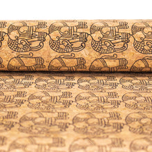 Laden Sie das Bild in den Galerie-Viewer, Ethnic Elephant Block- Vegan Cork Fabric- COF-298-A