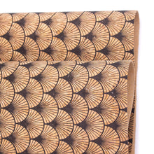 Laden Sie das Bild in den Galerie-Viewer, Scallop Fan Florals Cork Fabric- COF-415