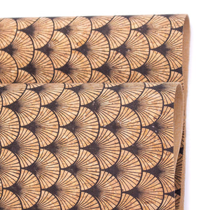 Scallop Fan Florals Cork Fabric- COF-415