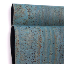 Laden Sie das Bild in den Galerie-Viewer, Turquoise Blue Portuguese Cork Fabric COF-125