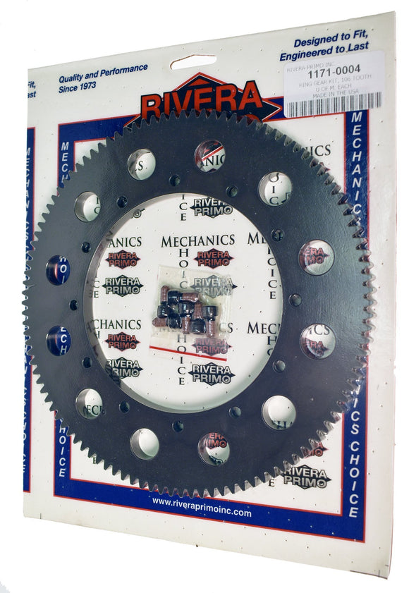 Ring Gear Kit 106T FOR CHAIN DRIVE. - Rivera Primo