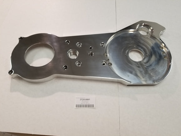Polished Billet Aluminum Motorplate Base Only Without Spacers