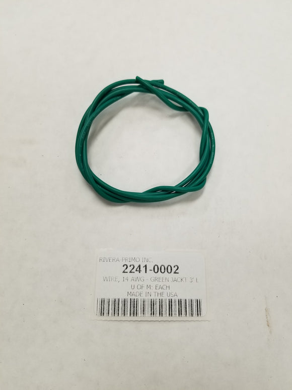 14 Gauge Green Jacketed Stranded Wire - Rivera Primo
