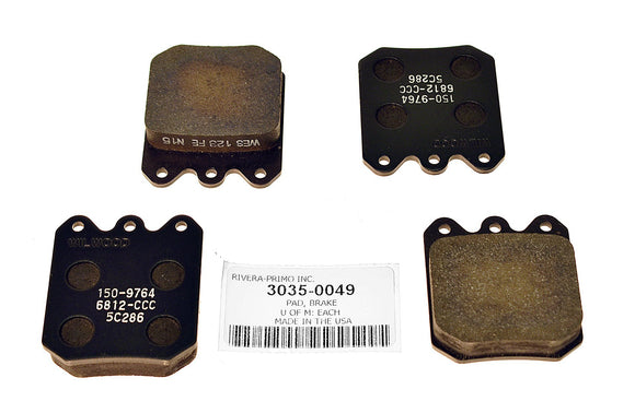 4 PACK REPLACEMENT BRAKE PAD FOR WILWOOD BRAKE CALIPERS. - Rivera Primo