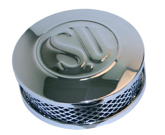 Air Cleaner, SU Assy Chrome with SU Embosed - Rivera Primo