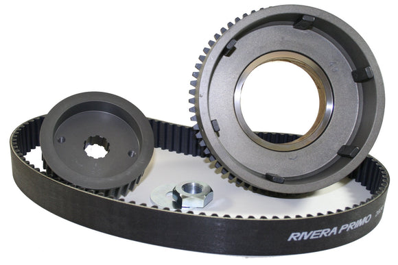 B2X 11MM POLYCHAIN ENCLOSED FITS 1965-1984 SHOVEL 4 SPD W/ ALUM PRIMARY & OE STYLE DRY Clutch ELECT START. - Rivera Primo