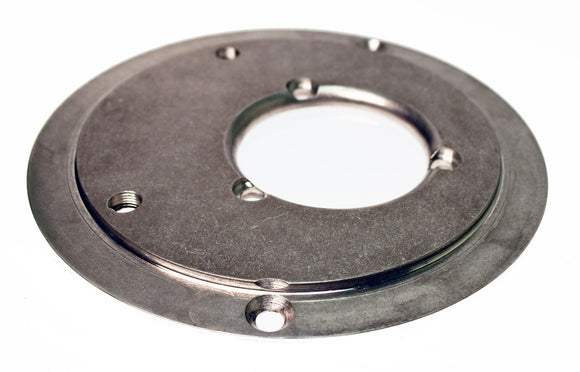 BACKING PLATE, A/C KIT POLISHED - FOR 48MM MIKUNI KIT. - Rivera Primo