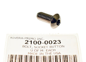 "BOLT, 5/16-18 X 3/4"" SOCKET HEAD BUTTON CHROME LOOK PLATING - Rivera Primo"