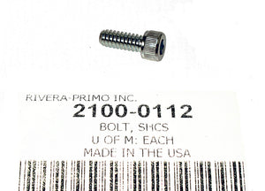 "BOLT, SHCS 10/24 X .500"" With ZARTAN FINISH - Rivera Primo"