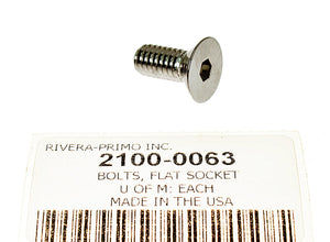 "BOLTS, FLAT SOCKET 5/16"" X 18 X 3/4"" - Rivera Primo"