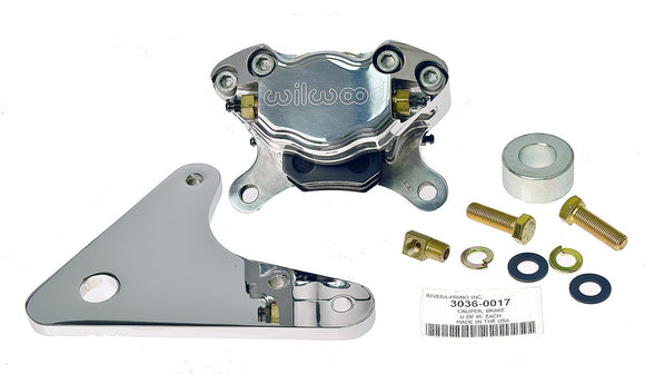 BRAKE BRACKET & WILWOOD CALIPER. FITS ALL RIGID APPLICATIONS WITH 10