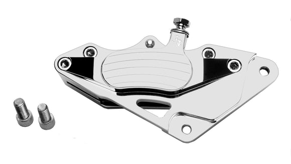 CALIPER, FRONT POLISHED 4-PISTON Jay Brake - 1984-1999 SOFTAIL. - Rivera Primo