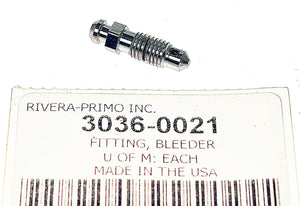 CHROME BLEEDER SCREW FITTING FOR WILWOOD BRAKE CALIPERS. - Rivera Primo