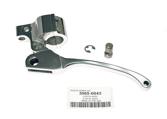 Clutch Assembly, Slotted Lever, Chrome. - Rivera Primo