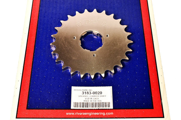 COUNTERSHAFT SPROCKETS Big Twin 1980-1985 4 Speed- Rivera Primo