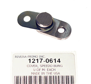 COVER, SPEEDO SENSOR BUNG HOLE - BILLET ALUM COVER. - Rivera Primo
