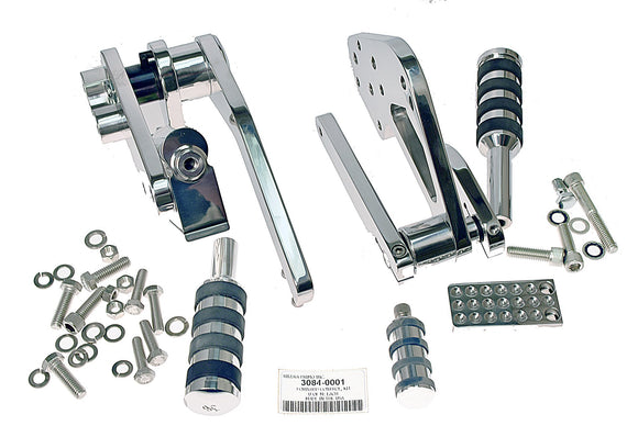 Forward Control, Kit Polished Classic Solid Brake & Shifter Set - Rivera Primo