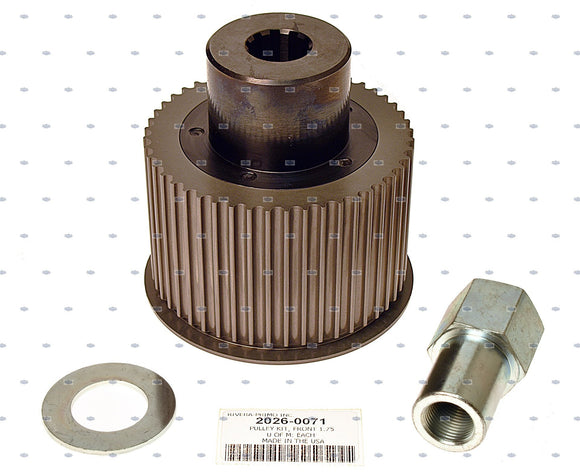 Front Pulley kit, offset 1 3/4