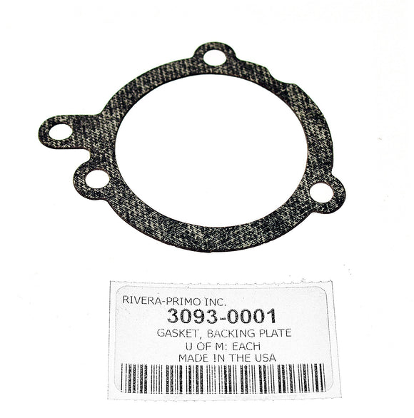Gasket, BACKING PLATE - USED WITH SMOOTHIE. - Rivera Primo