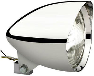 "HEADLIGHT, 5-3/4"" 'MIGHTY MAGNUM' HedLED Chrome Aluminum - Rivera Primo"