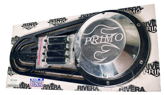 MATTE BLACK OUTER BELT GUARD KIT. Brute IV - Rivera Primo