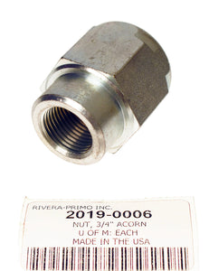 "NUT, ACCORN 3/4"" OFFSET ZINC PLATED - Rivera Primo"