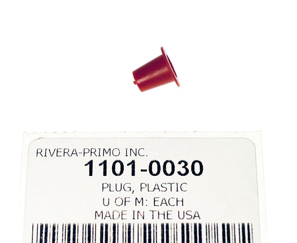 Plug, Red Plastic 1/4