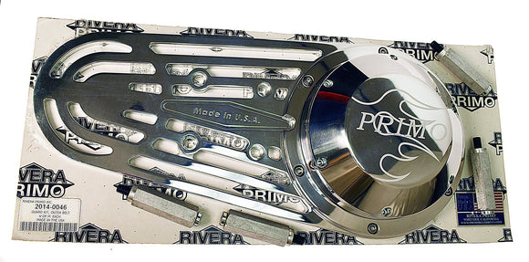 POLISHED OUTER BELT GUARD KIT. - Rivera Primo