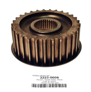REAR BELT TRANSMISSION PULLEY, 29 Tooth. - Rivera Primo