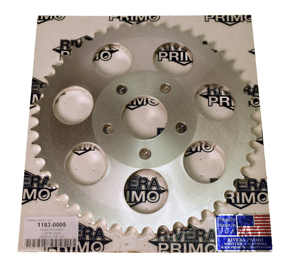 REAR SPROCKET 48 TOOTH. DISHED. - Rivera Primo