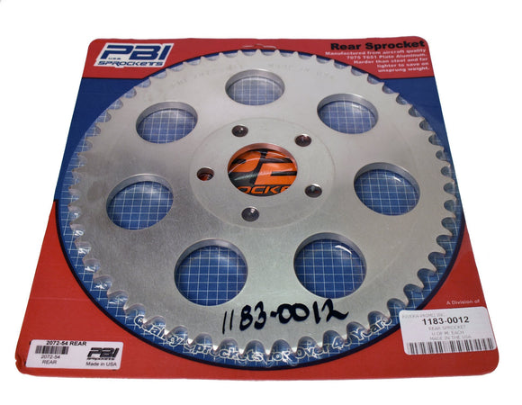 REAR SPROCKET 54 TOOTH - Rivera Primo