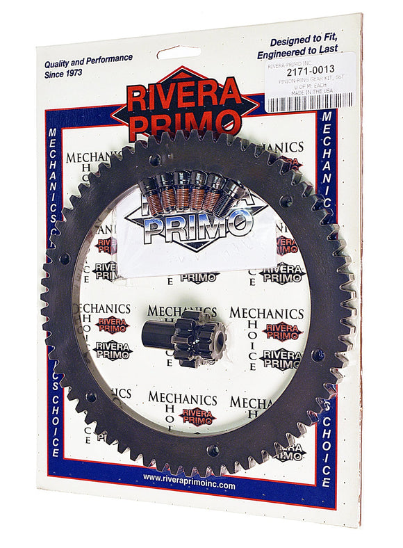 RING GEAR KIT - (66T and 9T Pinion)with Screws - Rivera Primo